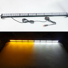 "Hot 32 LED 35.5"" Emergency Traffic Advisor Flash Strobe Light Bar  White/Amber"