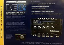 NEW Audio Control LC8i 8-Channel Line Output Converter w/ Aux Input BLACK