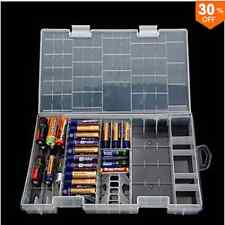 AAA AA C D 9V Battery Holder Hard Plastic Case Storage Box