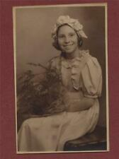 Young lady 1920's fashion hat dress flowers photograph  da.21a