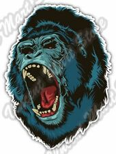"Angry Gorilla Scary Head Back Off Car Bumper Window Vinyl Sticker Decal 4""X5"""