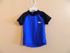 NWT babyGAP toddler boy short sleeve rash guard in blue white whale logo 3-6m
