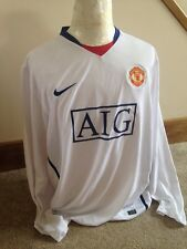Manchester United Long Sleeved Away Football Shirt / Jersey 08/09 XL By Nike