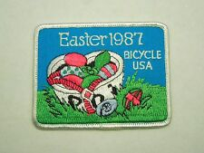 Vintage Easter 1987 Bicycle USA Embroidered Iron On Patch Cycling Bikes