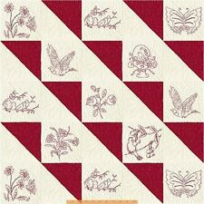 Mary Kovel Redworks Cotton Quilt Fabric Windham Patchwork BFab