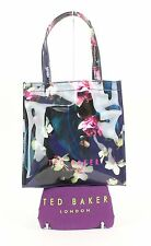 Ted Baker NWT Dark Blue Fuchsia Floral Print Small Icon Purse B77
