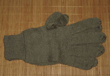 Swedish Military Issue 100% Wool Gloves Olive Drab L / XL - NEW UNISSUED
