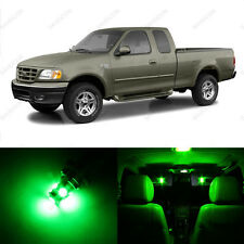12 x Green LED Interior Light Package For 1997 - 2003 Ford F-150 F150