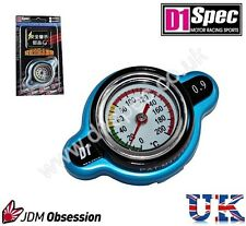 D1 SPEC RACING RADIATOR CAP 0.9kg/cm WITH TEMPERATURE GAUGE BLUE BIG HEAD JDM