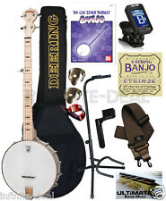 Deering Goodtime 5-String Openback Banjo - Clawhammer Open Back Package Bundle