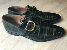 Mauri Genuine Alligator Monk Strap Dress Shoes Made In Italy Men's 13 M