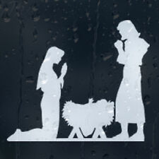 Christmas Jesus and Maria Car Decal Vinyl Sticker For Window Panel Bumper