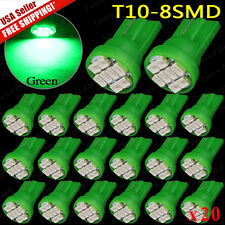 20 BRIGHT Green Plymouth LED 194 Wedge Instrument Panel Interior Light Bulb 12V