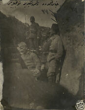 Ottoman Turkish Army Infantry in Trench World War 1, 5x4 Inch Reprint Photo 1