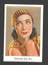 Dolores Del Rio Movie Film Star Vintage Cigarette Card