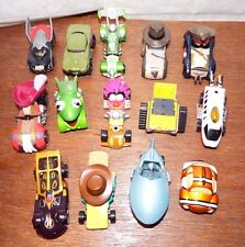 Diecast Disney Racers car figures toy playset nemo muppets Hook Wall-E Hulk Buzz