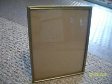 VTG Mid Century Gold tone Metal 8 x 10 PHOTO Picture FRAME w RARE PLASTIC EASEL
