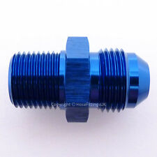 AN -8 AN8 JIC Flare to 1/4 NPT STRAIGHT MALE Fuel Oil Hose Fitting Adapter