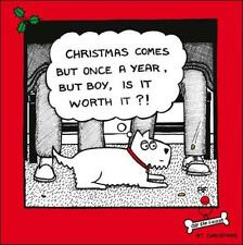 Once A Year Cartoon Dog Humour Christmas Greeting Card Off The Leash Cards