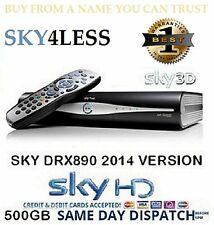 AMSTRAD DRX890 EX DEMO 500GB SKY PLUS HD BOX BRAND NEW REMOTE LEADS 1YR WARRANTY