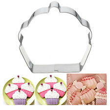 Stainless Steel Cake Cupcake Cookie Cutter Fondant Biscuit Pastry Baking Mould Q