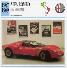 1967-1969 ALFA ROMEO 33/2 STRADALE Classic Car Photo/Info Maxi Card