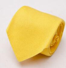NWT $295 KITON NAPOLI 7-Fold Soft Cotton Tie Golden Yellow Solid