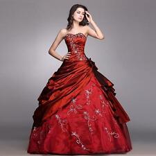 Elegant Trägerlos Brautkleider Taft Duchesse/Herzogin Hochzeitskleid Größe 34-44