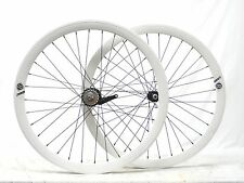 700c Origin 8 Sturmey Archer S2C Wheelset Laced In The USA White