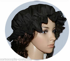 LADIES VICTORIAN / MEDIEVAL MOP CAP COSTUME(BLACK)