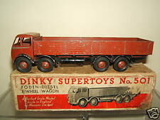 DINKY TOYS MODEL No.501 FODEN DIESEL 8-WHEEL WAGON   VN MIB