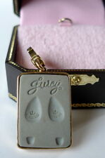Juicy Couture Hollywood Star Steps Charm footprint shoe movie star vintage gold