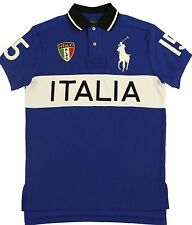 Ralph Lauren Polo Italia Italy World Cup Shirt Mens 3XB Big Pony Blue White New