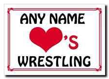 Love Heart Wrestling Personalised Jumbo Magnet