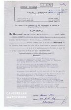 ANNA MAC   Signed Entertainment Contract   New Opera House Blackpool  1949