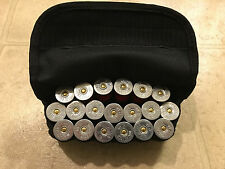 Black Tactical MOLLE Shotgun Shell ammo pouch reload holster HOLDS 19 SHELLS!!!