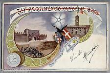 39° Reggimento Fanteria Brigata Bologna WWI Art Noveau PC Viaggiata 1904
