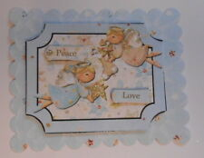 PK 2 CHRISTMAS PEACE AND LOVE ANGELS EMBELLISHMENT TOPPERS FOR CARDS AND CRAFTS
