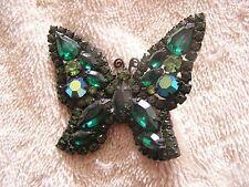 Beautiful Green  Rhinestone Weiss Pin Butterfly