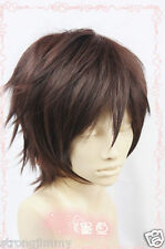 Amagi Brilliant Park Leading Man Short Dark Brown Cosplay Wig Hair cc10