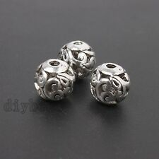 20pcs Hot Tibetan Vintage Silver Hollow Flower Rattan Alloy Loose Spacer Beads J