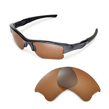 New Walleva Polarized Brown Replacement Lenses For Oakley Flak Jacket XLJ