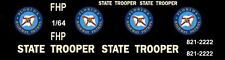 FLORIDA HIGHWAY PATROL Police 1/64th HO Scale Slot Car Waterslide Decals