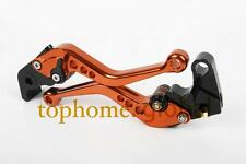Short Orange CNC Brake Clutch Levers for KTM 1190 Adventure / R 2013 2014 2015