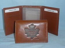 TORONTO MAPLE LEAFS Leather TriFold Wallet NEW brown 3 k