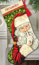 Cross Stitch Kit ~ Gold Collection Secret Santa Christmas Stocking #70-08938