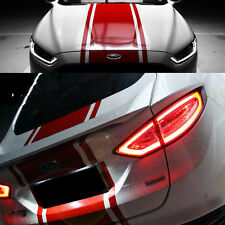 Car Dual Racing Stripes for Mondeo Vinyl Front Trunk Decal Stickers #938 Red