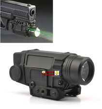 Hunting OEM Combo Green Laser Sight& Cree LED Strobe Flashlight Picatinny Rail