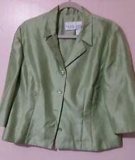 Womans Halmode Petites Pants Suit Lime Green-  Size 16P