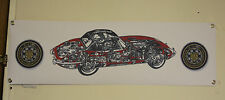 jaguar etype e type large pvc heavy duty WORK SHOP BANNER garage